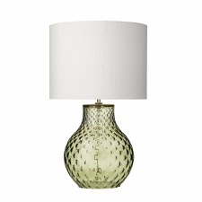David Hunt AZO4124 Azores Glass Table Lamp Base Small Green