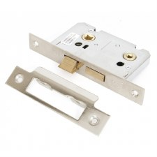 "From The Anvil Bathroom Mortice Lock 2.5"" Polished Nickel"