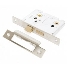 """From The Anvil Bathroom Mortice Lock 3"""" Polished Nickel"""