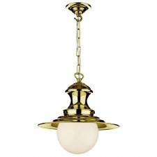David Hunt EP0140 Baby Station Ceiling Pendant Light Polished Brass