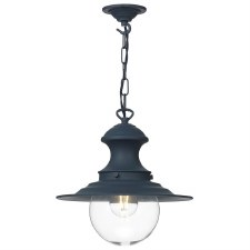 David Hunt EP0123 Baby Station Ceiling Pendant Light Smoke Blue