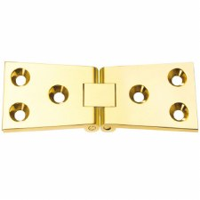 Counter-flap Hinge 38mm Polished Brass Unlacquered