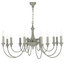 David Hunt BAI1239 Bailey 12 Light Chandelier Ash Grey