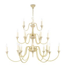 David Hunt BAI2145 Bailey 21 Light Chandelier Rich Antique Cream