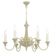 David Hunt BAI0645 Bailey 6 Light Chandelier Antique Cream