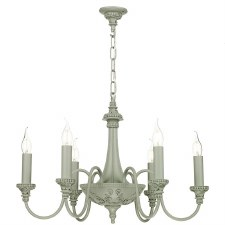 David Hunt BAI0639 Bailey 6 Light Chandelier Ash Grey
