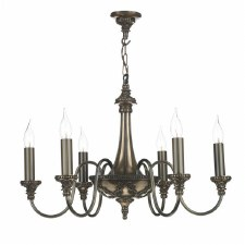 David Hunt BAI0663 Bailey 6 Light Chandelier Rich Bronze