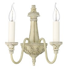 David Hunt BAI0945 Bailey Double Wall Light Antique Cream