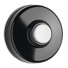Bakelite Bell Push Black/White