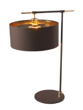 Elstead Balance Table Light Brown & Brass