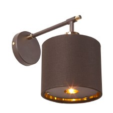 Elstead Balance Wall Light Brown & Brass
