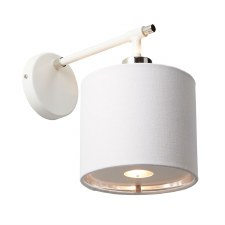 Elstead Balance Wall Light White & Nickel