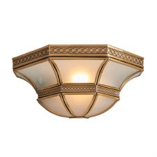 Interiors 1900 Balfour Wall Light Antique Brass