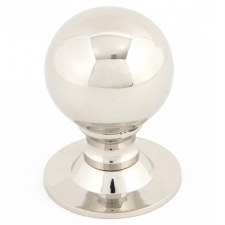 From The Anvil Ball Cabinet Knob Polished Nickel Large