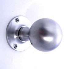 Aston Ball Door Knobs Satin Chrome 46mm