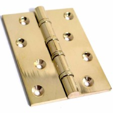 "Ball Race Butt Hinges 1550 4"" x 3"" Polished Brass"
