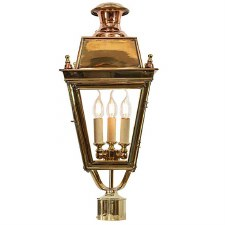 "Balmoral Lamp Post Head for 2"" dia. Polished Brass"