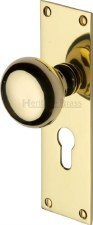 Heritage Balmoral Door Knobs Euro Profile BAL8548 Polished Brass