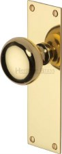 Heritage Balmoral Door Knobs Lever Latch BAL8510 Polished Brass