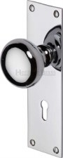 Heritage Balmoral Door Knobs Lever Lock BAL8500 Polished Chrome