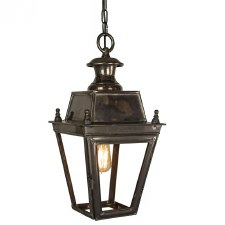Balmoral Pendant Hanging 1 Light Lantern Antique Brass