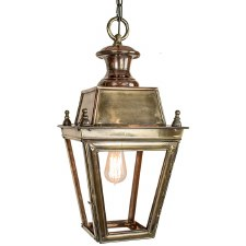 Balmoral Pendant Hanging 1 Light Lantern Light Antique Brass