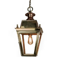 Balmoral Pendant Hanging 1 Light Lantern Polished Brass Unlacquered