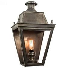Balmoral Large Flush Outdoor Wall Lantern Antique Brass