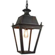 Balmoral Large Pendant with 1 Light Lantern Antique Brass