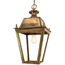 Balmoral Large Pendant with 1 Light Lantern Light Antique Brass