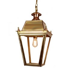 Balmoral Large Pendant with 1 Light Lantern Polished Brass Unlacquered