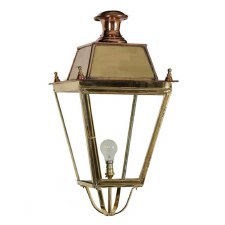 "Balmoral Large Lamp Post Head to suit 3"" dia. Polished Brass"
