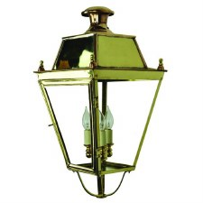 "Balmoral Large Lamp Post Head for 3"" dia. Polished Brass"