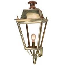 Balmoral Large Outdoor Wall Lantern Polished Brass