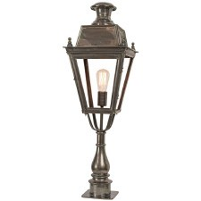 Balmoral Tall Pedestal Lantern Antique Brass