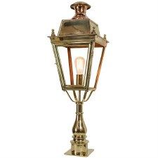 Balmoral Tall Pedestal Lantern Polished Brass Unlacquered
