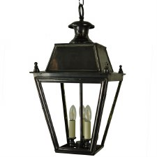 Balmoral Pendant with 3 Light Cluster Lantern Antique