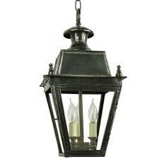 Balmoral Pendant Hanging 3 Light Cluster Lantern Antique Brass