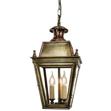 Balmoral Pendant Hanging 3 Light Cluster Lantern Light Antique Brass
