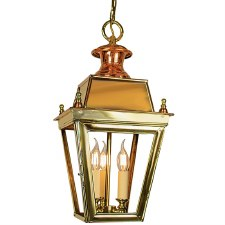 Balmoral Pendant Hanging 3 Light Cluster Lantern Polished Brass Unlacquered