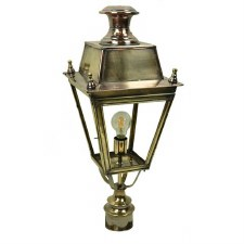 "Balmoral Lamp Post Head, to suit 2"" dia. Light Antique Brass"