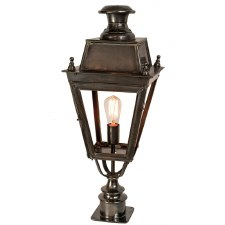 Balmoral Short Pillar Lantern Single Light, Antique