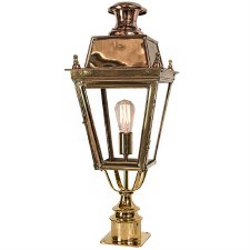 Balmoral Short Pillar Lantern Single Light Polished Brass Unlacquered
