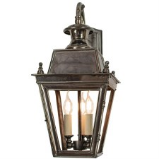 Balmoral Overhead Wall Lantern 3 Light Cluster Antique Brass