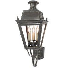 Balmoral Wall Lantern 3 Light Cluster Antique