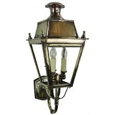 Balmoral Wall Lantern 3 Light Cluster Renovated Brass