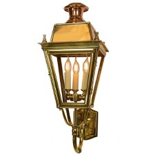 Balmoral Wall Lantern 3 Light Cluster Polished Brass Unlacquered