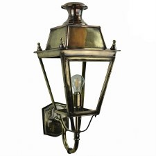 Balmoral Wall Lantern Light Antique Brass