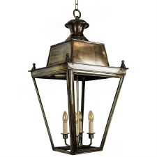 Balmoral Lantern Extra Large - Light Antique Brass