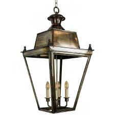 Balmoral Lantern Extra Large - Renovated Brass
